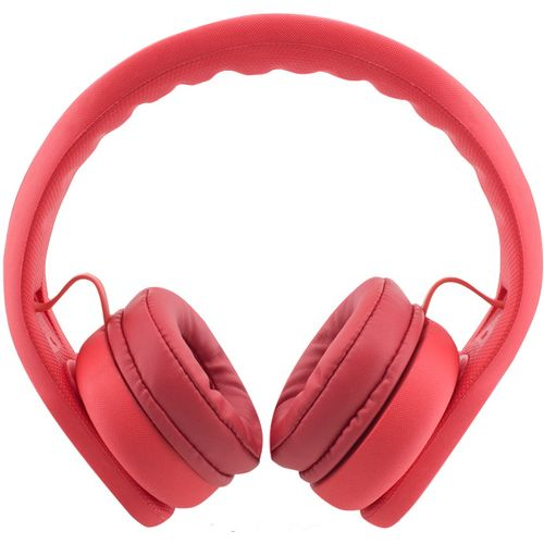Almost Unbreakable, Robust, Bendable Headphones; limited to 85Db; Red