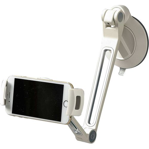 Smartphone Tablet & iPad Holder White Suction Base