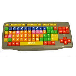 Large Key Large Print lower case coloured kids keyboard