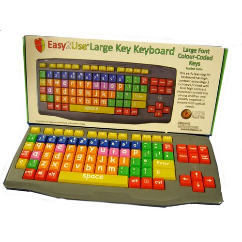 Large Key Large Print lower case coloured keys kids keyboard