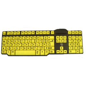 Easy2Use USB Keyboard - Large Black Print Yellow Keys