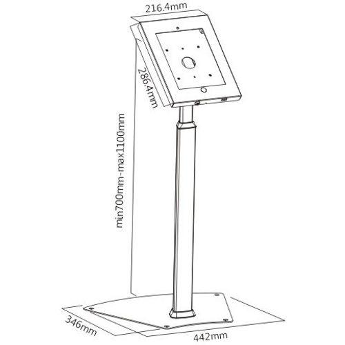 Height Adjustable iPad Air Floor Stand with Lock