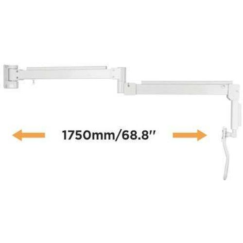 Extra Long Reach Articulated Wall Monitor Arm