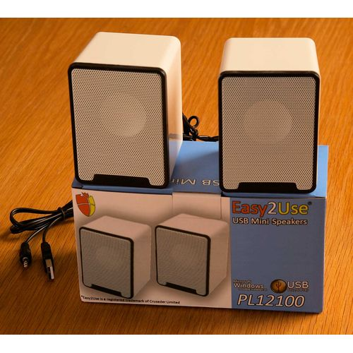 Mini USB powered 2.0CH Stereo Speakers 2 x 3W white