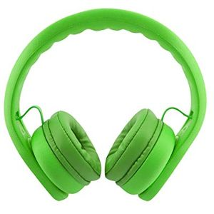 Almost Unbreakable Childrens Headphones Green - Damaged box