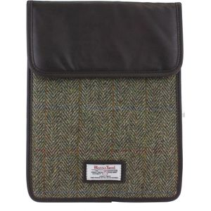 Harris Tweed Tablet Sleeve Case: Hunter Green Check