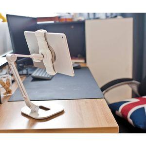 Smartphone Tablet Holder White Desktop Stand