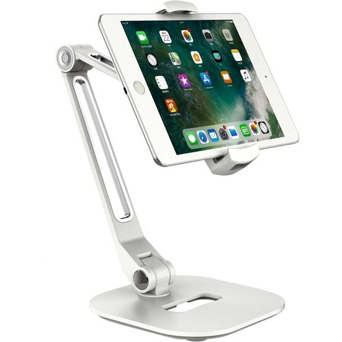 Smartphone Tablet & iPad Holder White Desktop Stand