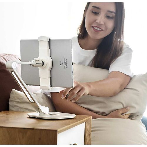 Smartphone Tablet & iPad Holder White Desktop Stand