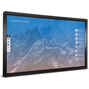 "Clevertouch Plus LUX Series 86"" 4K 20 point touch"