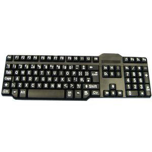 Easy2Use Keyboard - Large White Print Black Keys