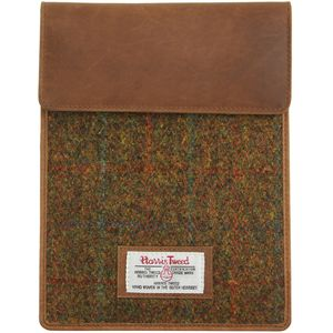 Harris Tweed Tablet Sleeve Case: Stornoway Brown Check