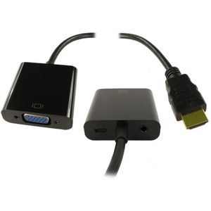 HDMI (M) to SVGA (F) & Audio (F) with USB Power