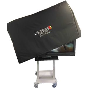 "Padded Protective Cover for a 65"" Mobile Screen"