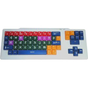 Easy2Use USB Large Key Coloured Lowercase Child's Keyboard
