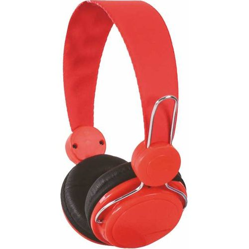 Stereo Headphones Reinforced Headband - Red
