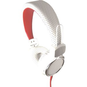 KM74 High Quality Stereo Headphones White/Red
