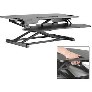 Black Height Adjustable Sit-Stand Desktop Workstation