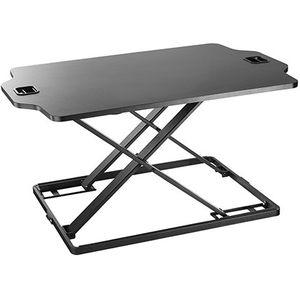 Black Height Adjustable standing desktop workstation