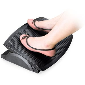 Ergonomic Rocking Footrest Black