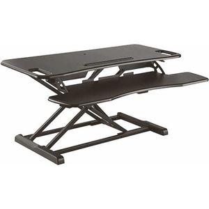 Black Height Adjustable Sit Stand Desktop Workstation