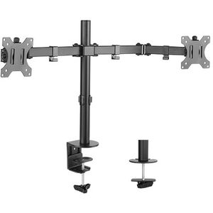 Double Joint Articulated Twin Monitor Arm (Desk Clamp) 8 Kg 17.6 lbs