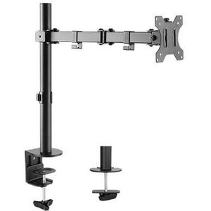 Single Monitor Arm Double Joint Articulated (Desk Clamp) Max 8Kgs 17.6 lbs