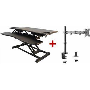 Sit-Stand Desktop Plus Half Price Monitor Arm