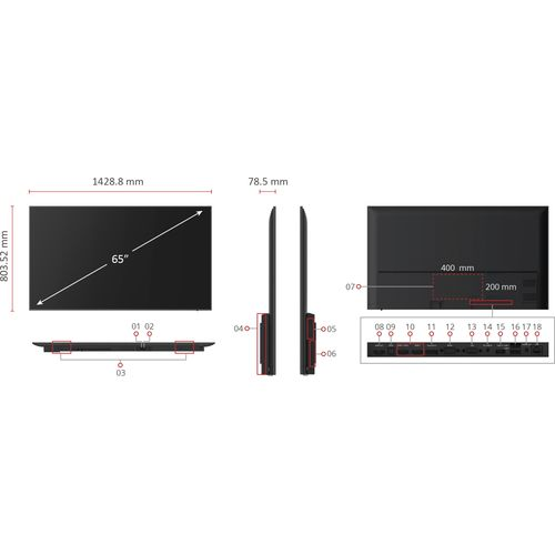 "ViewSonic 65"" 4K Wireless Presentation Display (WPD)"