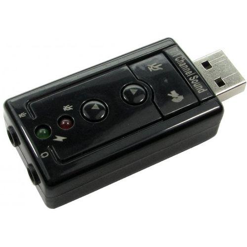 USB Audio Adapter with MIC + Headphone Ports