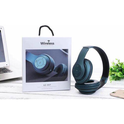 Easy2Use Bluetooth 5.0 Wireless Stereo Headphones - Black & Blue