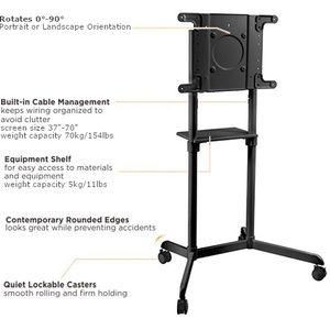 Rotating Mobile Display Stand - Black