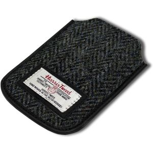 Harris Tweed Phone Case: Grey/Black Herringbone