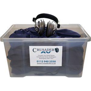 Classroom Headphone Set (24 Over Ear Stereo Headphones)