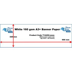 White Banner Paper 160gsm A3 320 x 900mm