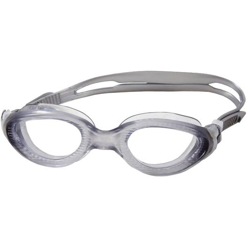 Pale Grey Swimming Goggles with darker Grey eye rim. Clear lense.