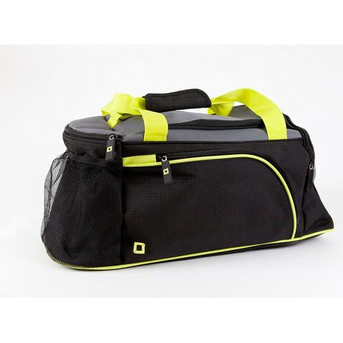 Black sided,Grey top Sports holdall with Green handles