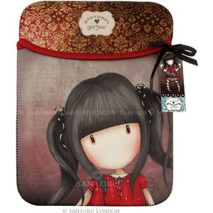 Santoro Eclectic - Gorjuss iPad Sleeve - Ruby