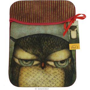 Santoro iPad Sleeve - Grumpy Owl