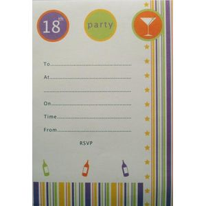 18th Party Invitations