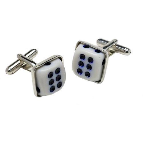 Double Six Dice Cufflinks