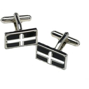 Cornwall St Pirans Cornish Flag Cufflinks