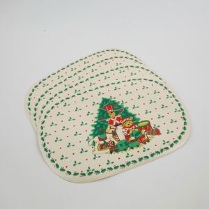 Christmas Tableware - Table Place Mats( Vinyl) Set of 4