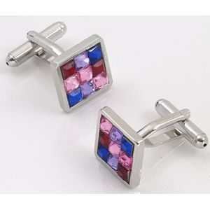 Multi Coloured Crystal Cufflinks