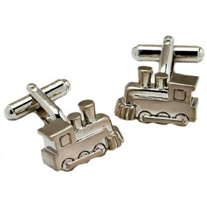 Steam Railway Engine Train Cufflinks