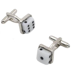 Dice Cufflinks Six & One