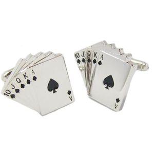 Playing Card Suit Cufflinks - Poker Royal Flush