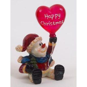 Christmas Decoration - Happy Christmas Frosty Snowman Figurine