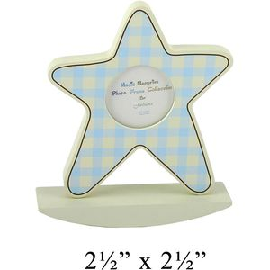 """Baby Boy Star Picture Frame 2.5x2.5"""""""
