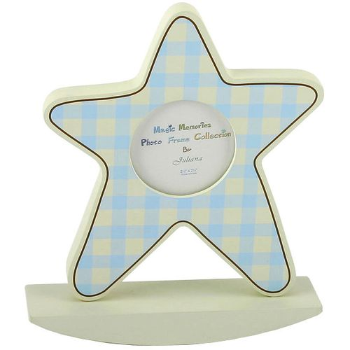 Baby Boy Star Picture Frame, on rocking plinth